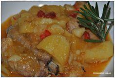 VINO, GASTRONOMIA Y VIAJES (Entre Fogones y Gin Tonics): Patatas con costillas de cerdo, al toque de hierba...