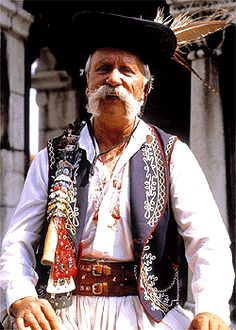 A man wearing traditional Hungarian national costume. (Zoltaaaaaaaaaaaaaaaannnnn)