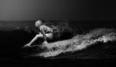 Longboard Surfing Black And White Photos, surf girls, mattia Surf Bikini, Bikini Girls, Surfer Girls, Surf Competition, Soul Surfer, Longboarding, Big Waves, Ocean Waves, Surf Style