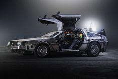 The 1982 DeLorean DMC-12 from <i>Back to the Future</i> (1985).