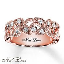 ½ ct tw Diamond Ring Round-Cut 14K Rose Gold - Neil Lane - Kay Jewelers