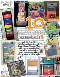 Clever Container has so many products to organize your classroom. See more at www.mycleverbiz.com/BethToney.