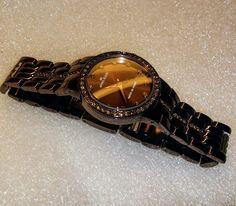 Anne Klein Ladies Water Resistant Watch Metallic Brown with Crystals #AnneKlein #Fashion