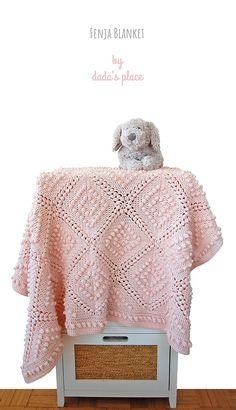 Fenya Blanket by Dada's place - Wiezu Crochet Throw Pattern, Crochet Blanket Patterns, Baby Blanket Crochet, Crochet Baby, Free Crochet, Crochet Blankets, Easy Crochet Projects, Crochet Ideas, Crochet For Beginners Blanket