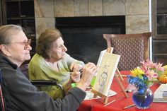 Senior-living facilities bring art to the memory-impaired: Art therapy triggers some of those old memories that are hidden in the brain. Residents might be able to draw something they are not verbally able to talk about.