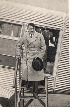 Hitler disembarking from his personal Ju 52 before the war