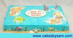Ocean Themed Sheet Cake