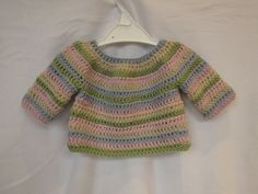 How to crochet a simple striped baby / child's sweater tutorial - part 1 https://www.youtube.com/watch?v=4tBi3-Aoj5c part 2 https://www.youtube.com/watch?v=CTth74tr-7E&feature=youtu.be