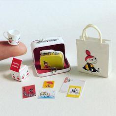 ドールハウス「ムーミンの店」用に作ったミィグッズの一部 ほとんど紙でできてます。 #ミニチュア #ペーパークラフト #ムーミン #ミィ #リトルミィ #ムーミンの店 #ミニチュアムーミンの店 #miniature #handmade #papercraft #moomin #littlemy #miniaturemoominshop #moominmuseum