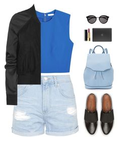 """""""Carry A Laptop"""" by elliejd ❤ liked on Polyvore featuring Topshop, Alice + Olivia, Rick Owens, rag & bone, Incase, Chanel and Yves Saint Laurent"""