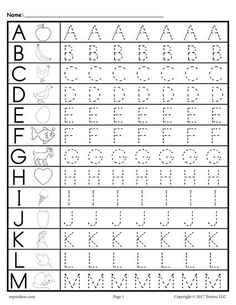 FREE printable uppercase letter tracing worksheets. These alphabet tracing worksheets include the full alphabet A-Z. Great for toddlers, preschool, and kindergarten. Get the free tracing alphabet worksheets here --> http://www.mpmschoolsupplies.com/ideas/7590/free-uppercase-letter-tracing-worksheets/