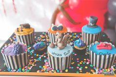 Closet Criativo   Cupcakes com o tema fantastica fabrica de chocolates