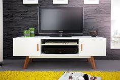 SCANDINAVIA fehér TV szekrény 120cm - DODO HOME Tv Board, Retro Home Decor, Scandinavian Style, Decoration, Milan, Living Room Decor, Sweet Home, New Homes, House Design