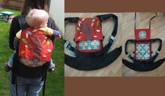 Falling Leaves Soft Structered Carrier #baby carrier diy #diy baby carrier #fashion baby carrier