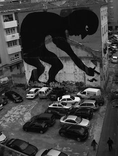 Large Scale Street Art Murals; Murcia, Spain