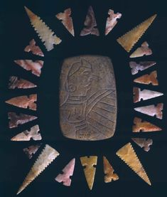 Artifacts from Cahokia Mounds State Historic Site in Illinois. Native American Tools, Native American Artifacts, Native American History, Indian Artifacts, Ancient Artifacts, Mexica, Ancient Mysteries, Stone Age, Before Us