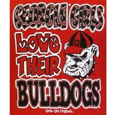 Too bad I don't have time to get this before Skeeter and I go to Saturday's game!  Very cute Georgia Bulldogs T-Shirt for Girls