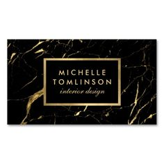 Black and Gold Marble Designer Business Card