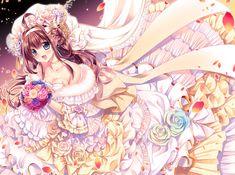 「金剛♥花嫁」/「櫻野露@秋例大祭-か28b」のイラスト [pixiv] #艦これ #金剛 #花嫁 #ウェディングドレス