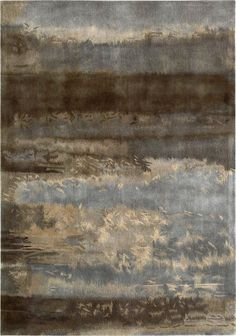 Calvin Klein Luster Wash  SW12 SLT Chrome Wash rug This certainly could be hung on the wall for texture-beautiful like a painting