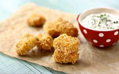 Una rica receta y original de croquetas de pollo para que coman de manera saludable tus hijos.