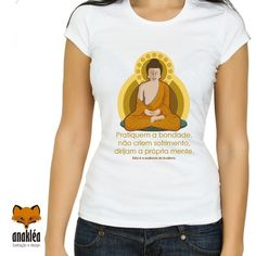 Camiseta - buda essência V Neck, T Shirt, Women, Fashion, Color, Block Prints, Outfits, Buddha, Supreme T Shirt