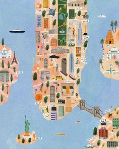 Tory Burch - Ruby Taylor Illustration - New York map