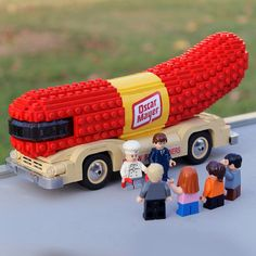 Lego Weinermobile!  Seen this going down the freeway