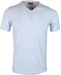 d53f020c9 Best Seller Hugo Boss Dandre Cotton Plain Sky Blue V-Neck T-Shirt M Sky  Blue online
