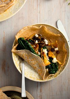 Chanterelles, Buckwheat Crepes and Kale - The Design Files | Australia's most popular design blog.