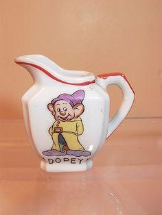 Walt Disney Enterprises, 1937, Made in Japan Dopey Creamer