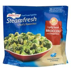 Birds Eye Steamfresh Chef's Favorites Broccoli with Cheese Sauce - E-Commerce Front Eating Vegetables, Frozen Vegetables, Cheese Sauce For Broccoli, Cheese Cultures, Frozen Broccoli, Cooking Instructions, How To Make Cheese, Natural Flavors, A Food