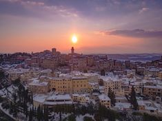 Winter time in Montepulciano (SI). Aerial photo by Max Morriconi.