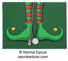 Golf Christmas Elf Feet Doormat by SportsArtZoo #golf #Christmas #doormat #decoration