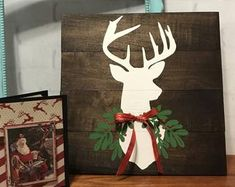 Check out our wood christmas decorations selection for the very best in unique or custom, handmade pieces from our shops. Butterfly Birthday Cards, Birthday Cards For Her, Wood Picture Frames, Picture On Wood, Photo Display Board, Deer Signs, Long Distance Gifts, Grandmother Gifts, Handmade Greetings