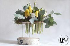 Lalele galbene si lisianthus, o structura cu flori de primavara_YaU_YaU concept_Elena toader (1)