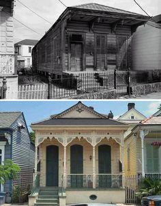 shotgun houses historic facades
