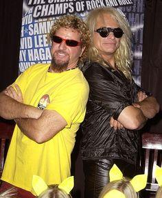 Sammy Hagar and David Lee Roth (I'm a Sammy fan, sorry Dave!)