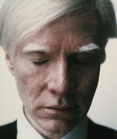 """""""Self Portrait (Eyes Closed)"""". Taken by Warhol in 1979."""