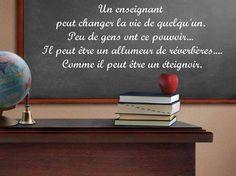 Un enseignant peut changer la vie de quelqu'un... Thoughts On Education, Educational Thoughts, Images, Adhd, Classroom Management, Life, Words, Quotes