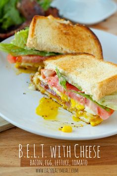 Bacon, EGG, Lettuce, Tomato, and Cheese sandwich, easy to make, and so delicious! #ad - Eazy Peazy Mealz