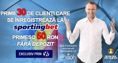 Pariuri online: 50 ron FARA DEPOZIT la Sportingbet - Ponturi Bune