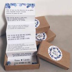 Dica de Convite de Casamento – Craft Azul Marinho