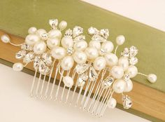 Dew Pearl And Crystal Bridal Hair Comb from notonthehighstreet.com