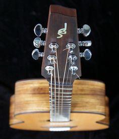 Soderlund Guitars short multiscale, medium-bodied acoustic in zebrano and douglas fir. Baroque Fashion, Ukulele, Acoustic, Music Instruments, Douglas Fir, Google Search, Medium, Style, Guitars