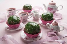We think it's the perfect day, St. Paddy's, to roll out our Unmatchable Matcha Green Teanies! Recipe here: http://sweetdebbiesorganiccupcakes.com/matcha-green-teanies/