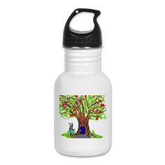 Bunny tree Kids Water Bottle on CafePress.com Things To Buy, Water Bottle, Bunny, Drinks, Kids, Cute Bunny, Children, Hare, Water Bottles