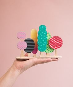 Artistic fall color in fun Patterns and shapes by Sketchnic. Have fun and Games with this Miniature Woodland. Such a super cute idea! Diy And Crafts, Crafts For Kids, Arts And Crafts, Paper Crafts, Diy Montessori Toys, Designer Toys, Kids Prints, Wood Toys, Handmade Toys