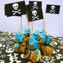 Druiven- (of rozijnen-)buidel met piratenthema