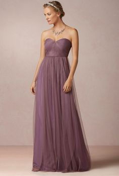 "Brides: Jenny Yoo. ""Annabelle"" strapless tulle bridesmaid dress, $260, Jenny Yoo available at BHLDN"